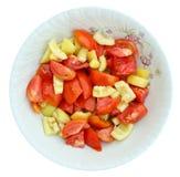 Salade op plaat Royalty-vrije Stock Foto