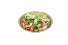 Salade op wit Stock Foto