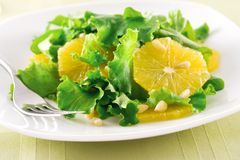 Salade orange images libres de droits