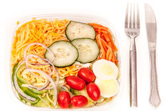 Salade organique verte fraîche de jardin Photographie stock
