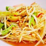 Salade ou somme-Tam de papaye Photo libre de droits