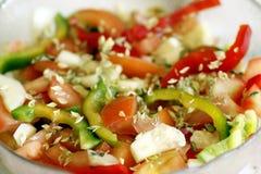 Salade prête image stock