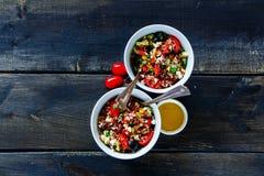 Salade rouge de riz Photos libres de droits