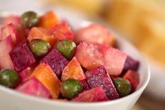 Salade russe de betteraves images stock