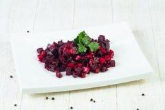 Salade russe de vinaigrette photographie stock libre de droits