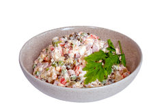 Salade russe olivier Image libre de droits