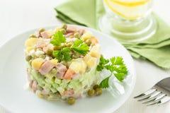 Salade russe olivier Images libres de droits