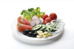 Salade saine de régime image libre de droits