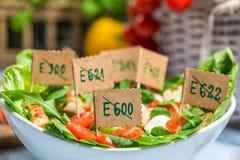 Salade saine faite sans des agents de conservation Photographie stock libre de droits