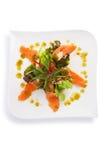 Salade saumonée épicée Images libres de droits