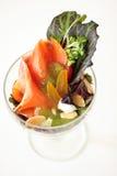 Salade saumonée Photo libre de droits
