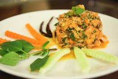 Salade saumonée aigre et épicée Image libre de droits