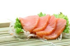 Salade saumonée de sashimi Photographie stock