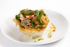 Salade saumonée desséchée Photo stock