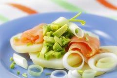 Salade saumonée desséchée Photo libre de droits