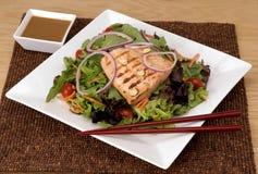 Salade saumonée grillée Photos stock