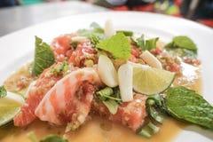 Salade saumon?e dess?ch?e photographie stock