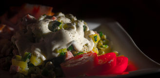 Salade savoureuse photo libre de droits