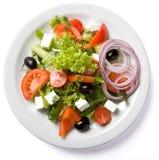 Salade servie de la plaque blanche Photo libre de droits