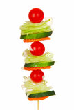Salade sur un bâton Images stock
