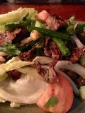 Salade thaïe de boeuf photo libre de droits