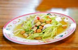 Salade thaïe de mangue Image libre de droits