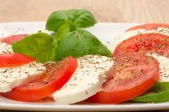 Salade traditionnelle de Caprese Images stock