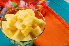 Salade tropicale colorée d'ananas Photographie stock