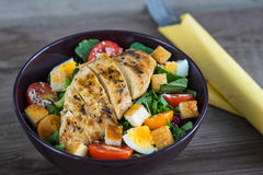 Salade végétale avec de la viande rôtie de poulet Photographie stock libre de droits