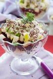 Salade végétale avec la rectification de raifort sauvage image libre de droits