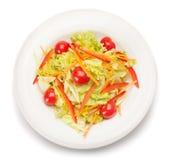 Salade végétale D'isolement sur le blanc Photo libre de droits