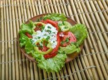 Salade végétale géorgienne images stock