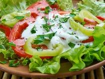 Salade végétale géorgienne photo stock