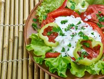 Salade végétale géorgienne images libres de droits