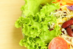 Salade végétale mélangée fraîche Photo stock