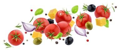 Salade végétale volante photo libre de droits