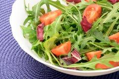 Salade végétarienne avec l'arugula et les tomates-cerises photo libre de droits