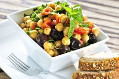 Salade végétarienne de pois chiche Photo libre de droits