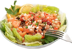 Salade végétarienne saine d'haricot photo stock
