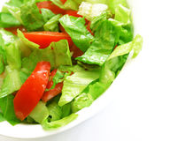 Salade végétarienne saine de la plaque blanche Photographie stock libre de droits