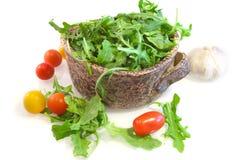 Salade van arugula Stock Fotografie