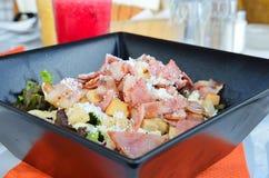 Salade van chef-kok Stock Foto