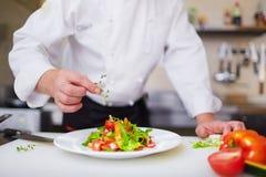 Salade van chef-kok stock fotografie