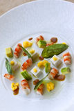Salade van garnalen Stock Afbeelding