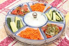 Salade van groente. stock afbeelding