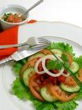 Salade van kip met tandoorikruiden 4 Stock Afbeeldingen