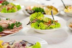 Salade van kippenborst met courgette royalty-vrije stock fotografie