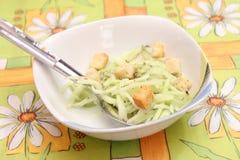 Salade van komkommer stock foto's