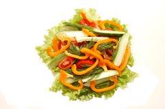 Salade van komkommers, tomaten Stock Afbeelding
