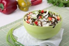 Salade van kool met laminaria en paprika royalty-vrije stock foto